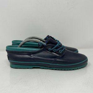 LL Bean Womens 11 Vintage Navy Blue Teal Rubber